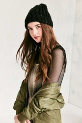 Urban Outfitters Speckled Cuffed Beanie Black