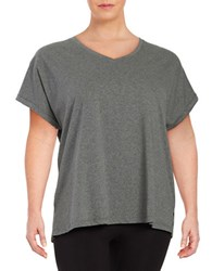 Lord And Taylor Knit Cotton Tee Grey