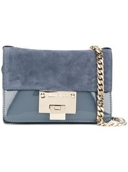 Jimmy Choo Rebel Mini Shoulder Bag Women Patent Leather Suede Metal Other One Size Blue