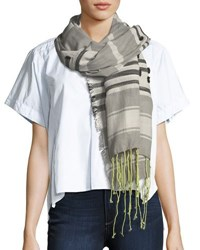 Michael Stars Lines In The Sand Scarf Gray