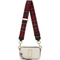 Marc Jacobs White And Red Snapshot Bag