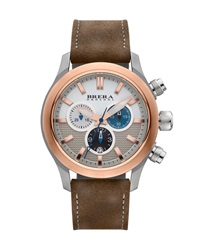 Eterno Chronograph Watch Rose Gold Brown Brera