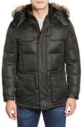 Men's Rainforest 'Ridgeville' Thermoluxe Puffer Jacket With Faux Fur Trim Hunter