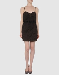 0051 Insight Short Dresses Dark Brown
