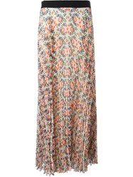 P.A.R.O.S.H. Floral Print Skirt Nude And Neutrals