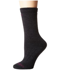 Icebreaker Hike Heavy Crew 1 Pair Pack Jet Heather Women's Crew Cut Socks Shoes Gray