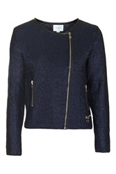Icon Wool Mix Knitted Jacket By Jovonna Blue