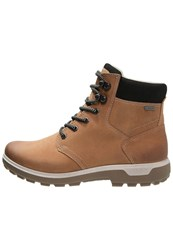 Ecco Gora Walking Boots Amber Black Brown