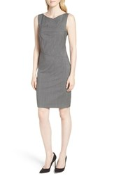 Boss Disien Mini Houndstooth Dress Grey Mini Houndstooth