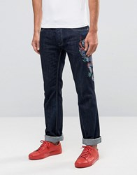 Love Moschino Dragon Slim Fit Jeans Blue