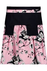 Diane Von Furstenberg Claire Printed Wool And Silk Blend Mini Skirt Pink
