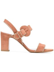 Tabitha Simmons Contrast Stitch Sandals Women Leather Suede 41 Brown