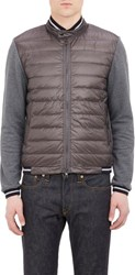 Moncler Tech Fabric And French Terry Jacket Grey