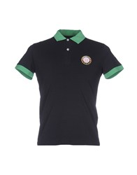 Cooperativa Pescatori Posillipo Polo Shirts Dark Blue