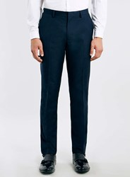 Topman New Navy Skinny Suit Trousers Blue