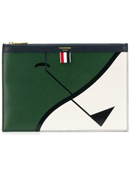 Thom Browne Golf Intarsia Small Tablet Holder Green
