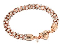 Betsey Johnson Rose Gold Crystal Heart Magnet Bracelet Crystal Bracelet Gray