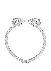 Alexander Mcqueen Double Skull Crystal Bangle