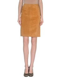 Couture Du Cuir Leather Skirts Khaki