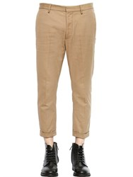 Dsquared 17Cm School Boy Cotton Drill Pants