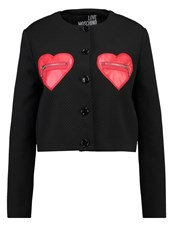 Love Moschino Blazer Black Red