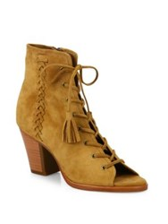 Frye Dani Whipstitch Suede Lace Up Booties