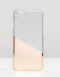Asos Metallic And Glitter Iphone 6 And 6S Case Multi