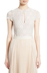 Alice Olivia Women's Maria Lace Cap Sleeve Bodysuit