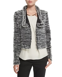Halston Reversible Quilted Fur Nylon Jacket