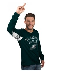 G3 Sports Hands High Men's Long Sleeve Philadelphia Eagles Play Action T Shirt Green