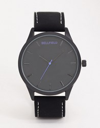Bellfield Black Watch With Black Dial