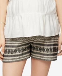 A Pea In The Pod Printed Maternity Shorts Black Off White