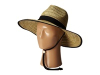 San Diego Hat Company Rsl5556 Rush Straw Lifeguard W Band And Chin Cord Black Caps