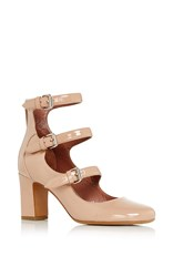 Tabitha Simmons Ginger Patent Leather Pumps Nude