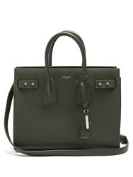 Saint Laurent Sac De Jour Small Grained Leather Tote Dark Green