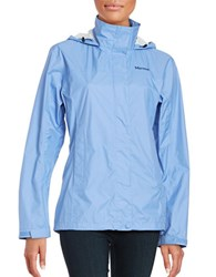 Marmot Precip Funnelneck Long Sleeve Jacket Blue