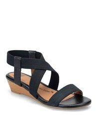 Sofft Imala Criss Cross Slingback Sandals Black