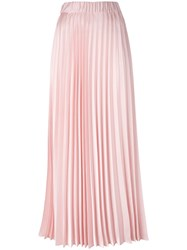 P.A.R.O.S.H. Long Pleated Skirt Pink Purple