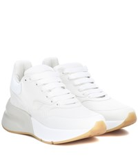 Alexander Mcqueen Leather And Fabric Sneakers White