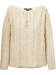Ralph Lauren Black Chunky Knit Sweater Nude And Neutrals