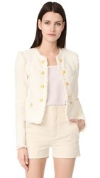 Veronica Beard Betsy Lace Tweed Jacket White