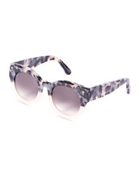 Valley Eyewear A Dead Coffin Club Round Faceted Sunglasses Pink Tortoise Brown Pink Brown