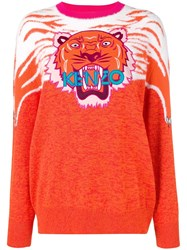 Kenzo Perched Tiger Sweater Orange
