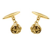 Lee Renee Rose Cufflinks Gold Neutrals Gold Yellow
