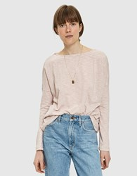 Which We Want Vana Striped Tee In Misty Mauve Mauve Stripe