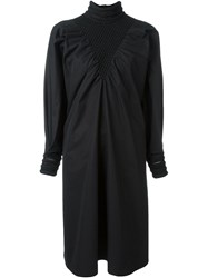 Fendi Puffed Sleeve Dress Black