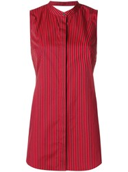3.1 Phillip Lim Knotted Back Striped Top Red