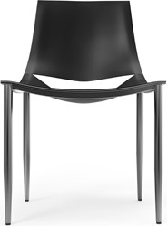 Modloft Sloane Dining Chair Carbon Steel Black Leather 99 Room Of Choice Delivery Package Removal