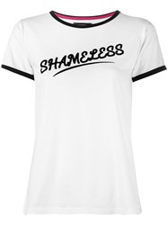 House Of Holland Shameless Ringer T Shirt White