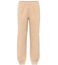 See By Chloe Cotton Blend Trackpants Beige